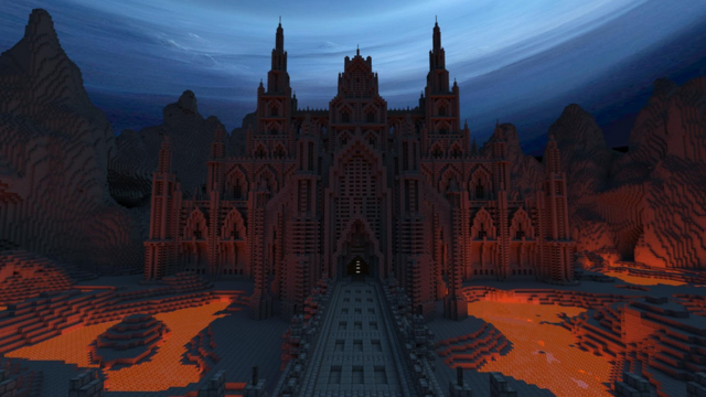 Epic Nether Fortress #minecraft
