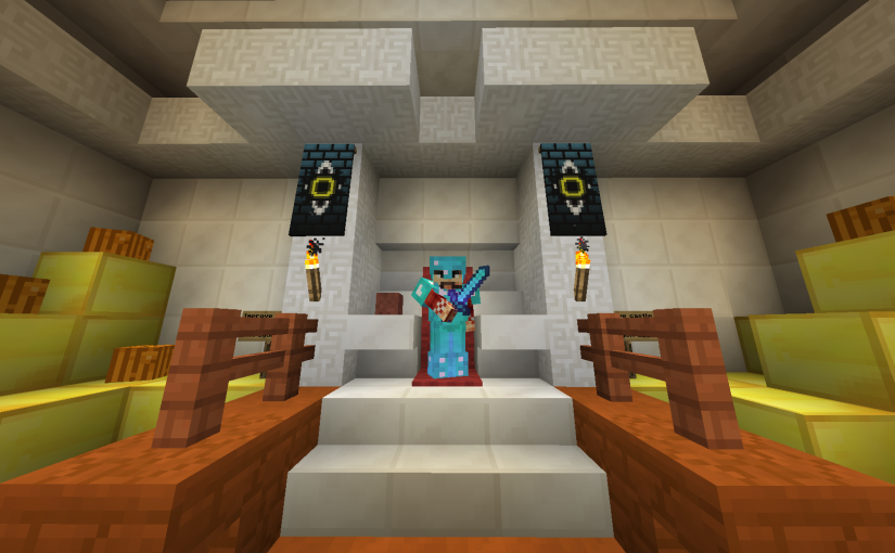 Home sweet home – Where the #wizards of @Minewind belong #feelsgoodtobeking #minecraft